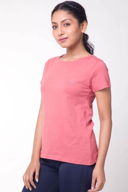 Women's Yoga and Gym Cotton Work-out Round Neck Loose Fit T-Shirt